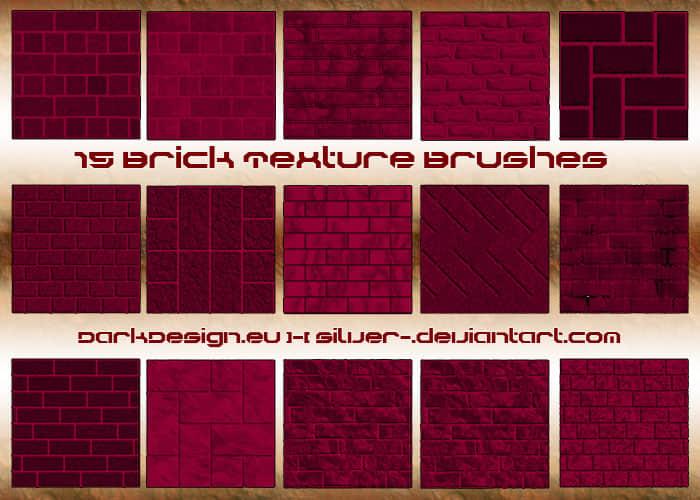 高清墙砖、墙壁材质纹理photoshop笔刷素材