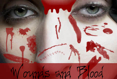 恐怖流血伤口、伤痕效果photoshop笔刷素材 流血笔刷 伤痕笔刷 伤口笔刷  characters brushes