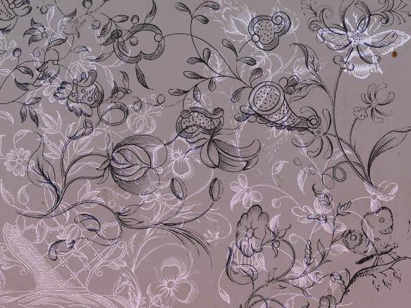 手绘式经典线条花纹墙画、壁画PS笔刷下载