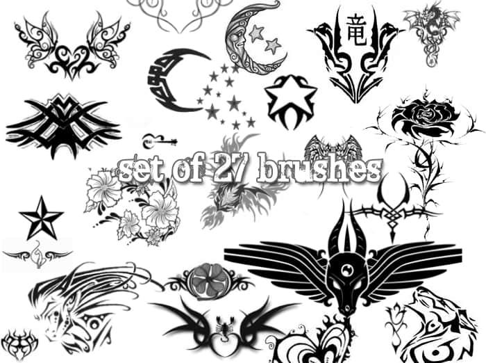 纹身、刺青图案photoshop笔刷素材