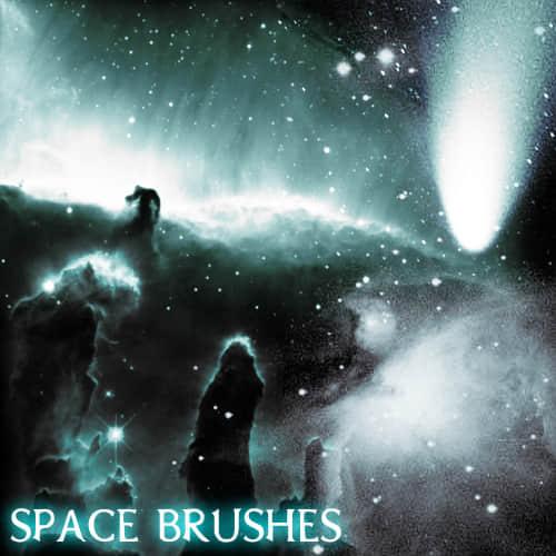 宇宙群星闪耀、浩瀚星空背景PS笔刷下载