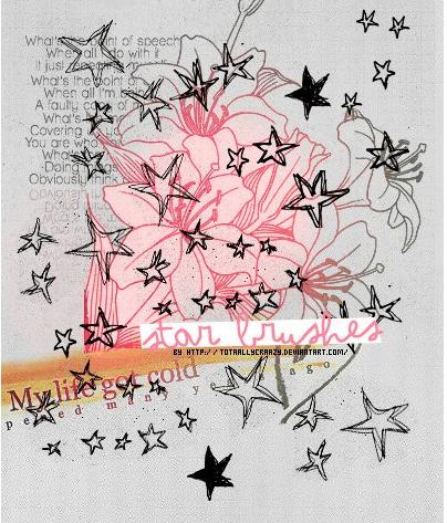 手绘涂鸦五角星素材PS笔刷下载
