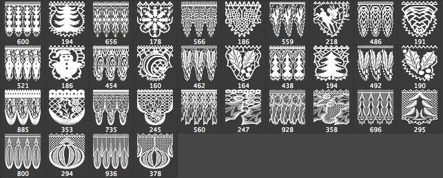 节日花边图案装饰Photoshop CS6专版笔刷素材