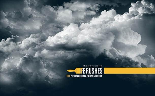 经典空中云朵、白云效果photoshop笔刷素材