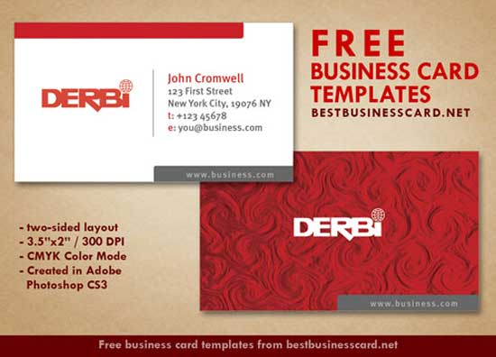red-business-cards