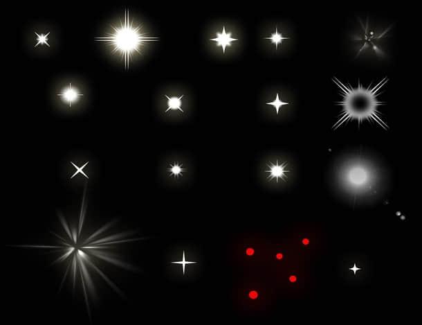闪烁、耀斑、星光效果photoshop笔刷下载