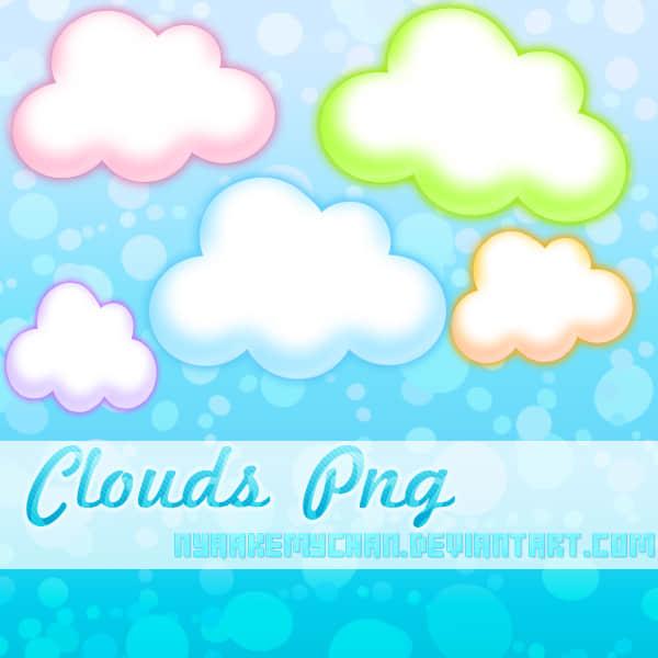 5色可爱的卡通云彩、云朵美图秀秀素材免费下载 美图秀秀云朵素材 美图秀秀云彩素材 可牛影像云彩素材  %e9%a5%b0%e5%93%81%e8%b4%b4%e7%ba%b8%e7%b4%a0%e6%9d%90