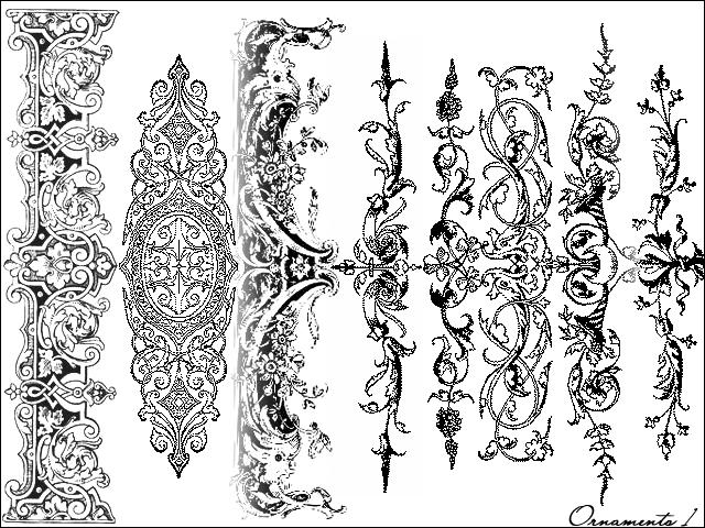 经典欧式艺术花纹图案photoshop笔刷下载 #.2