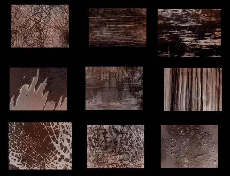 玻璃窗碎裂、墙壁剥落、冰凌、斑驳的街头涂鸦艺术、木纹理PS笔刷素材