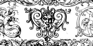 古罗马建筑雕刻花纹图案photoshop笔刷素材 罗马花纹笔刷 建筑花纹笔刷  adornment brushes