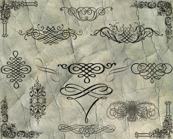 欧式贵族花纹艺术PS笔刷 #.11