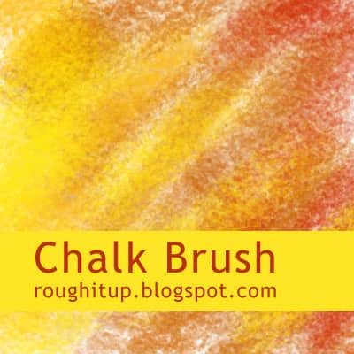 简单的粉笔笔触效果photoshop笔刷素材 蜡笔笔刷 粉笔笔刷  photoshop brush