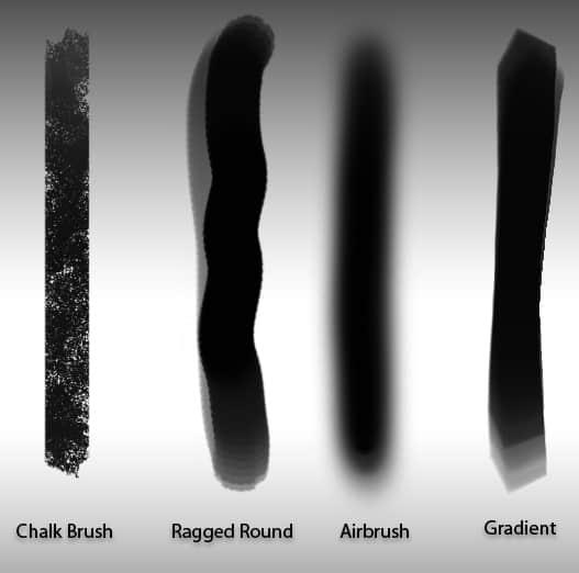 4种PS特制笔刷笔触素材 笔触笔刷  photoshop brush