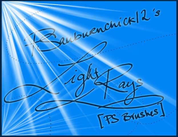 光线闪耀、太阳光、射线背景效果photoshop笔刷下载