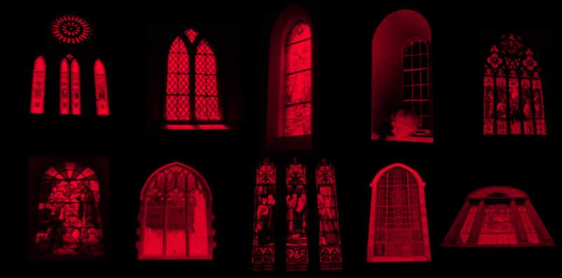 14种欧式窗户、教堂窗户素材photoshop笔刷