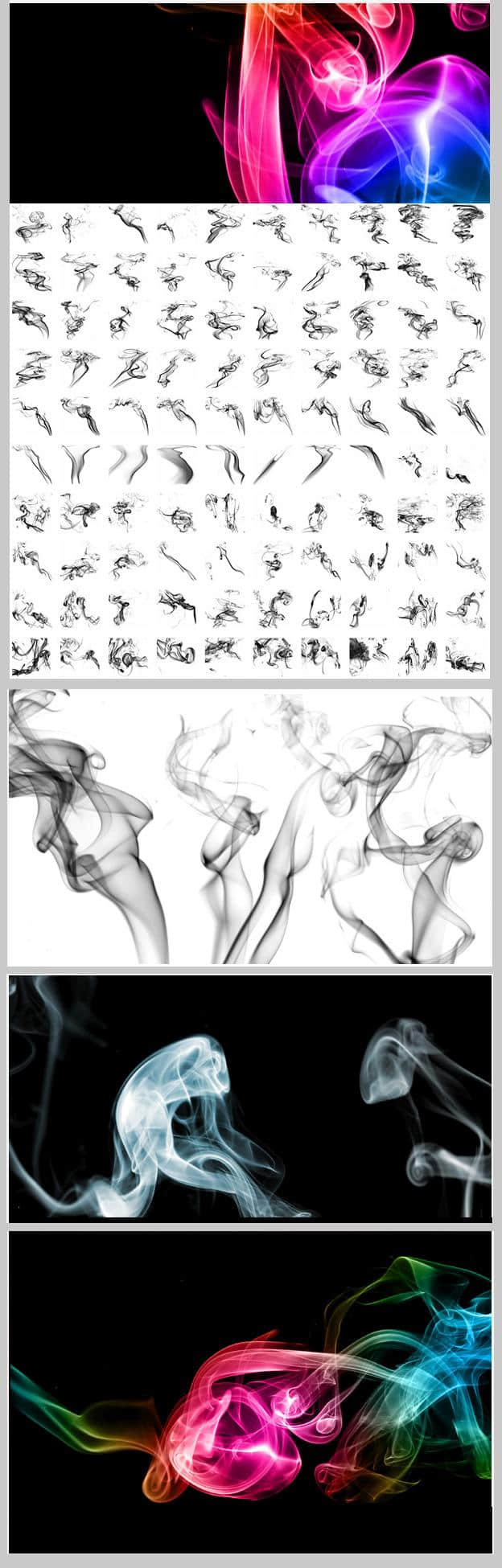 高清1250PX多种烟雾素材photoshop笔刷