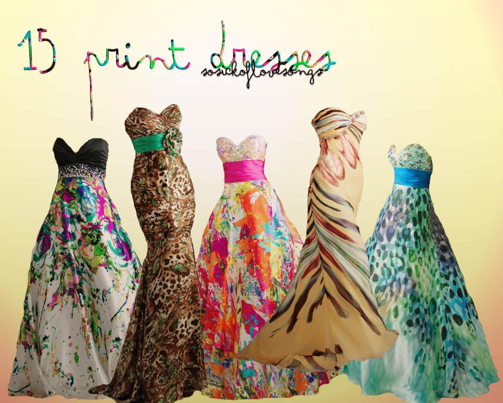 15款时尚不同花色的晚礼服裙美图秀秀、可牛影像素材