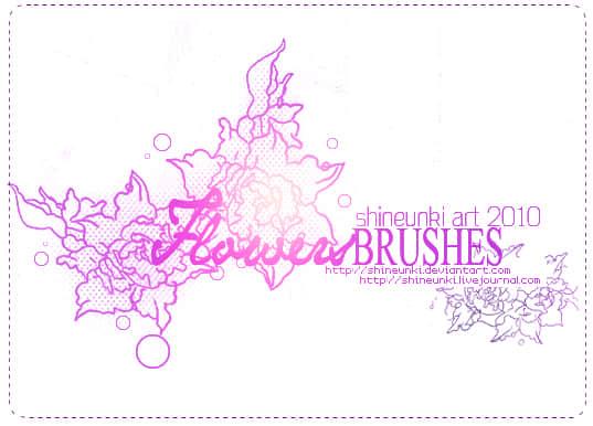 漂亮的高贵牡丹花纹印花photoshop笔刷素材 牡丹花纹笔刷 印花笔刷  flowers brushes