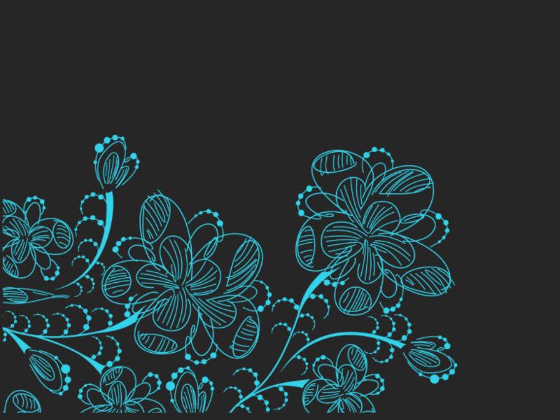 漂亮的线条涂鸦手绘卡通可爱花纹、鲜花图案PS笔刷素材