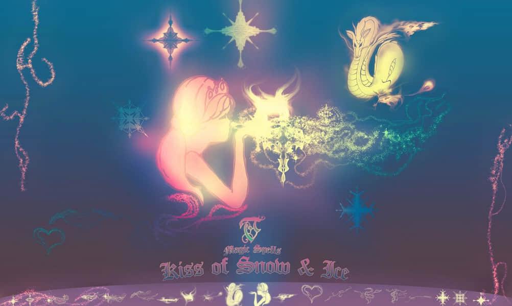女神、神龙、爱心、流烟缥缈花纹图案等photoshop笔刷