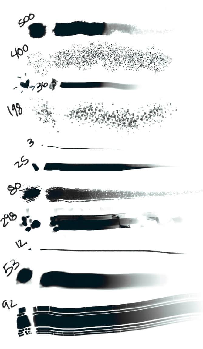 阴影、雀斑、素描、墨水刷photoshop笔刷素材下载