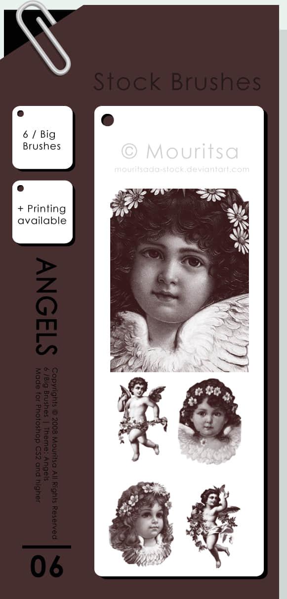 可爱小天使、丘比特人像PS笔刷素材