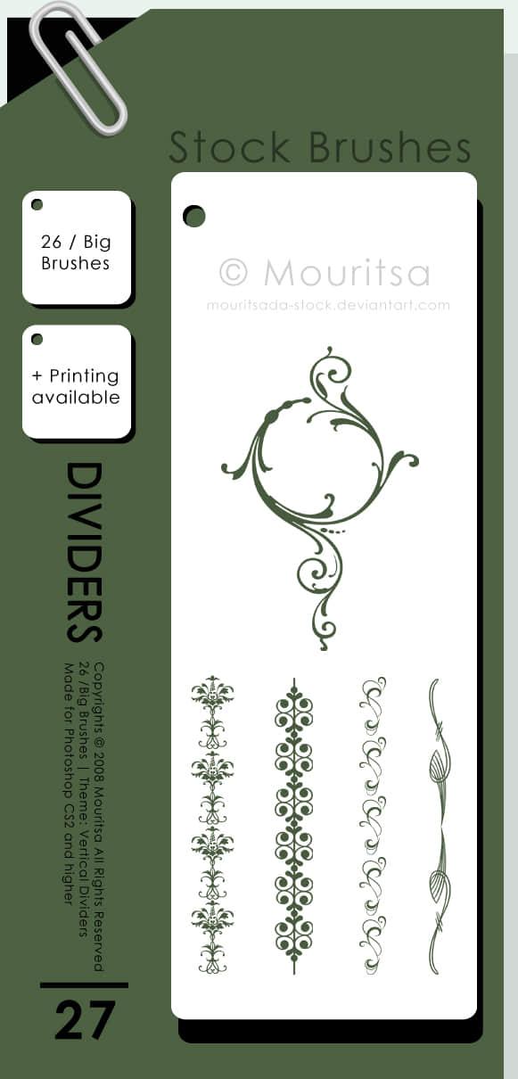 精细漂亮植物花纹边框图案photoshop笔刷素材
