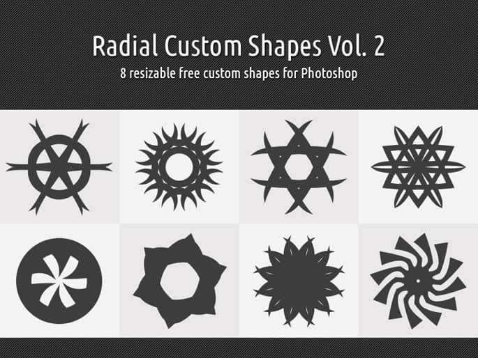 旋转对称花纹图案photoshop自定义形状素材 .csh 下载