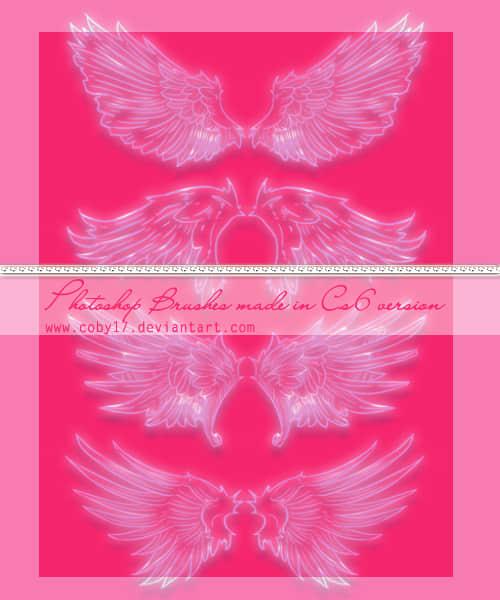 光影梦幻天使翅膀photoshop笔刷素材