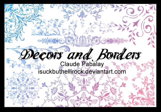 贵族式艺术植物花纹印花、墙花图案、地毯壁纸花纹photoshop笔刷素材 植物花纹笔刷 墙花笔刷 墙纸花纹笔刷 印花笔刷  adornment brushes flowers brushes