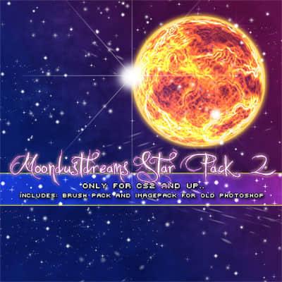 仿真星星闪烁、星光闪耀、星光点点等梦幻背景PS笔刷下载