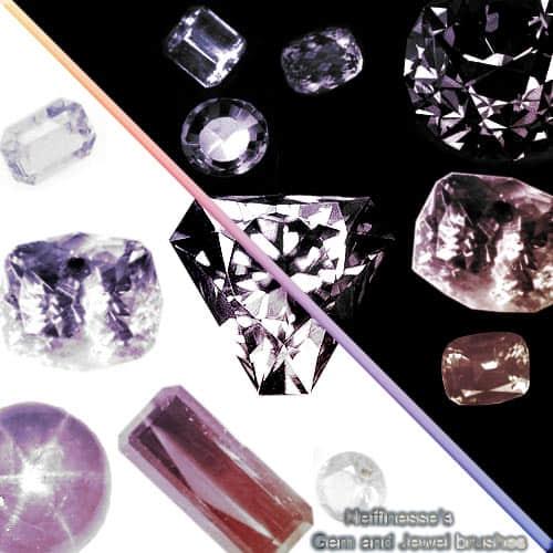 真实的宝石、钻石、珠宝首饰photoshop笔刷素材