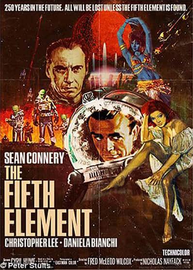 如果热门大电影提前50年上映  畅想复古海报设计