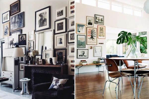 """墙上的""""照片相片框""""如何摆放才更美?国外室内装修图"""