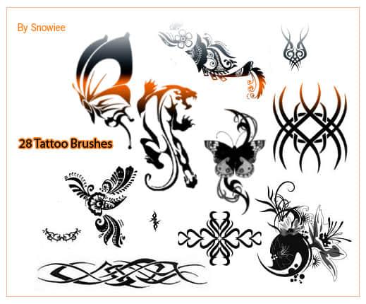 人体纹身、纹饰、刺青图案photoshop笔刷素材