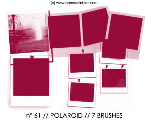 拍立得照片、宝利来相片边框背景photoshop笔刷素材 #.11