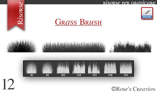 青草、草地、草丛photoshop笔刷素材