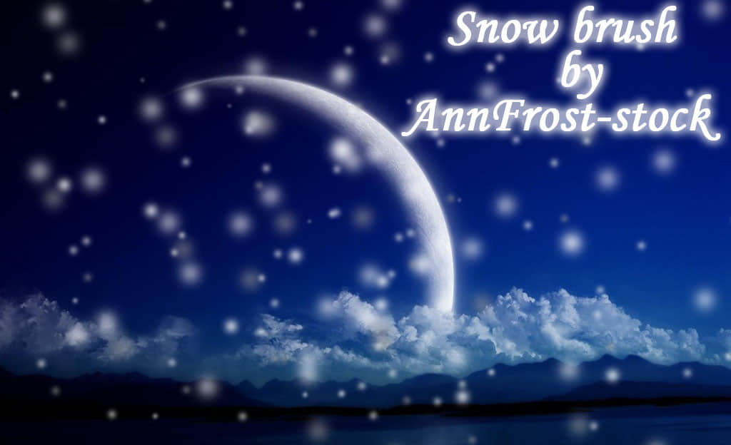 天气下雪、雪景photoshop笔刷素材