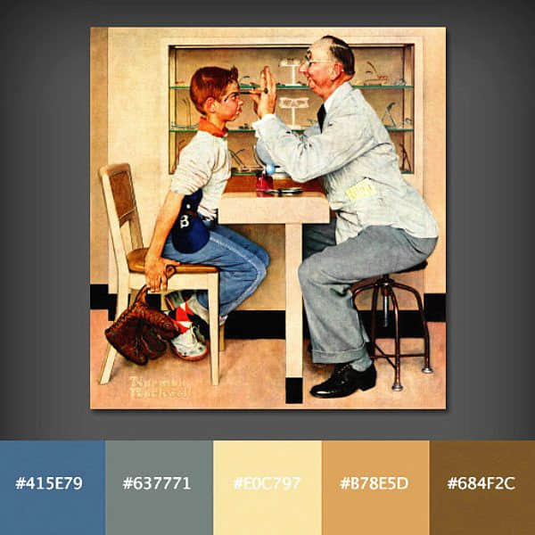 """你是色彩控吗?提炼自世界名画的""""色彩搭配方案""""参考"""