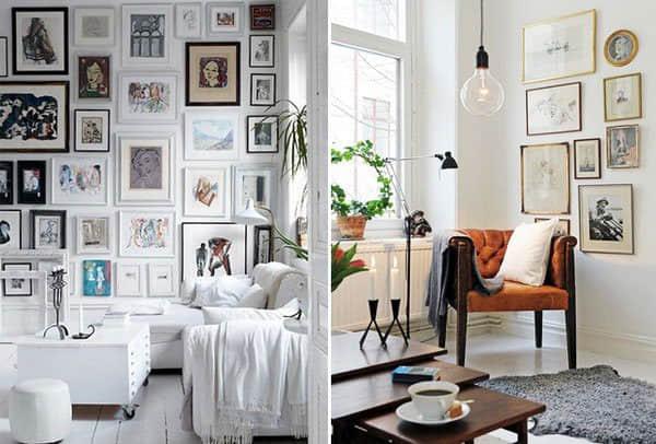 """墙上的""""照片相片框""""如何摆放才更美?国外室内装修图 室内装修 国外装修  building decoration"""