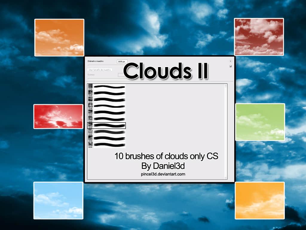 10种真实的免费云朵、云彩、天空、蓝天photoshop笔刷素材