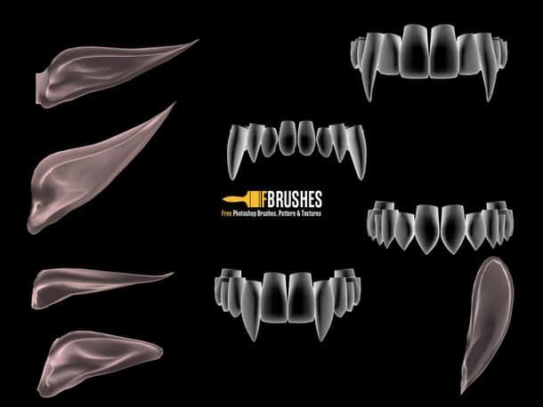 尖牙、獠牙、精灵耳朵、尖耳朵photoshop笔刷下载