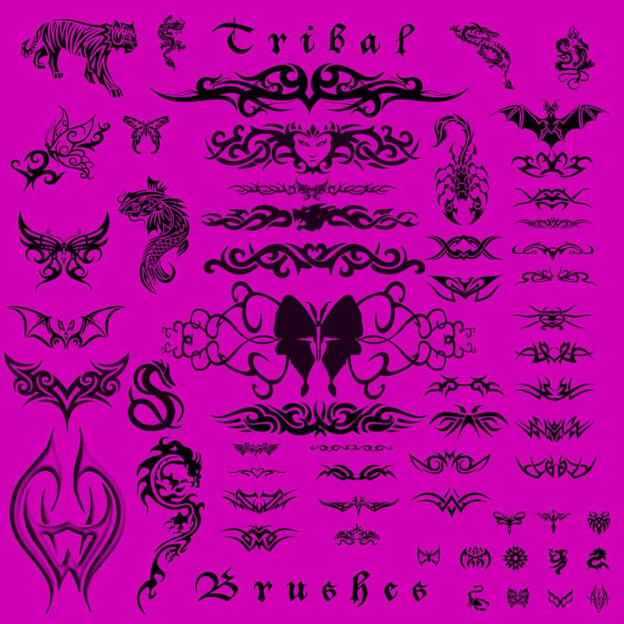 图腾部落纹身、纹饰图案photoshop笔刷素材