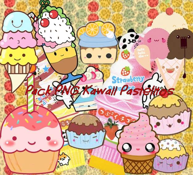 卡哇伊卡通蛋糕、雪糕、冰欺凌美图秀秀png图片素材
