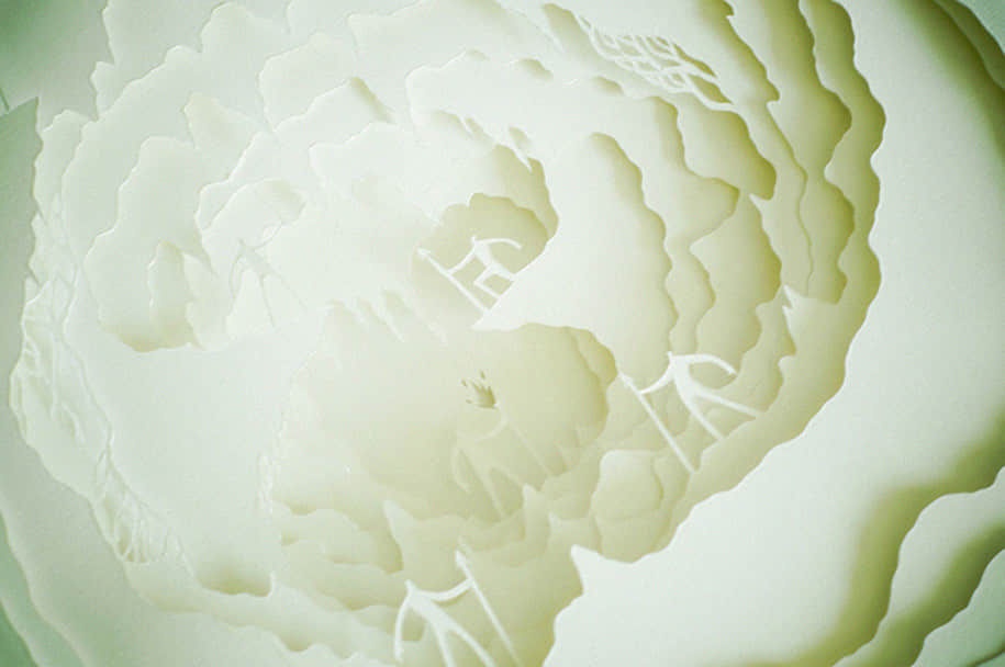 """奇幻光影立体""""剪纸雕塑""""作品欣赏"""