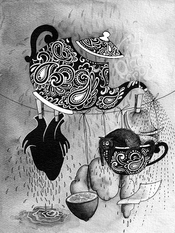 Raquel Costa-丰富多彩的手绘插画作品
