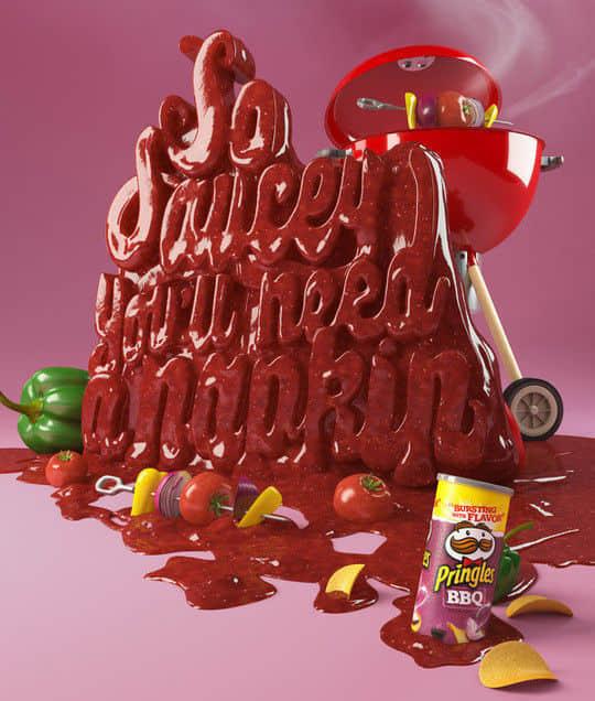 50个创意美味食物文字排名设计 排版设计  photoshop appreciation