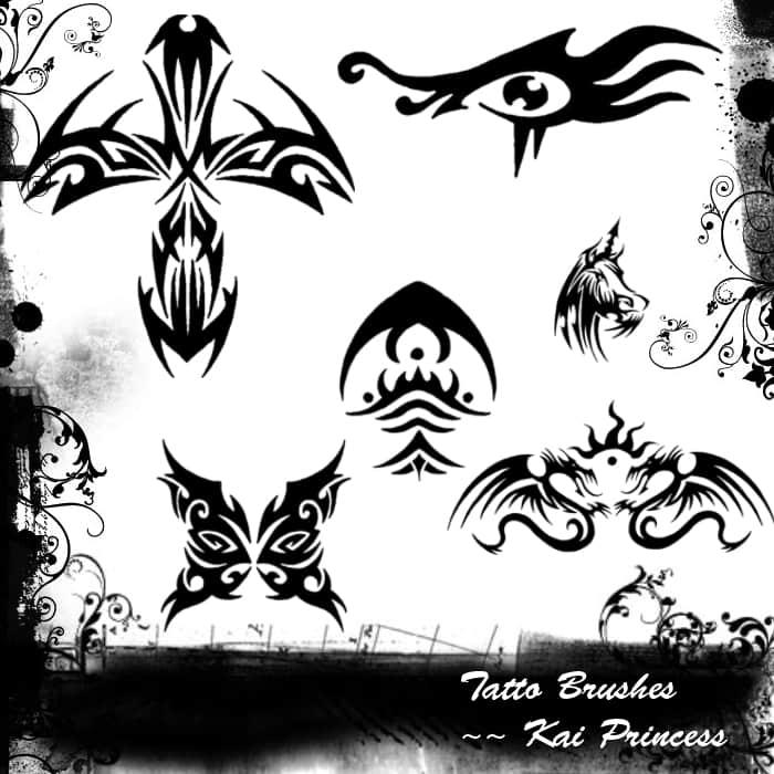 酷炫的纹身图案PS笔刷素材下载