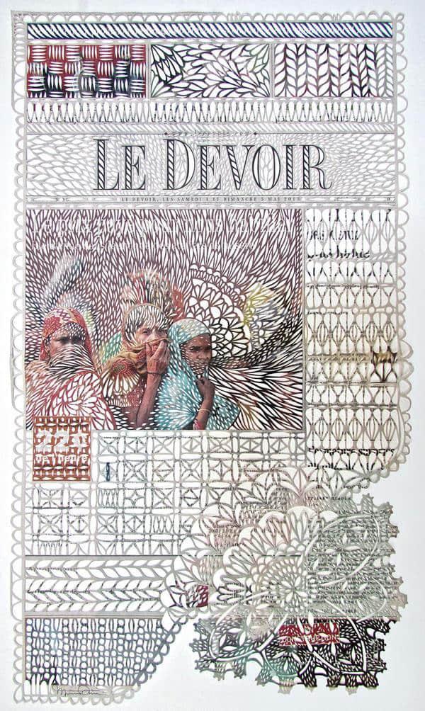 漂亮的报纸剪纸蕾丝边纹艺术欣赏
