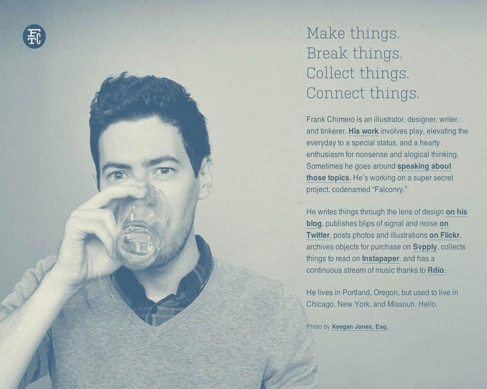 美国著名设计师 FRANK CHIMERO 分享的20条人生设计学